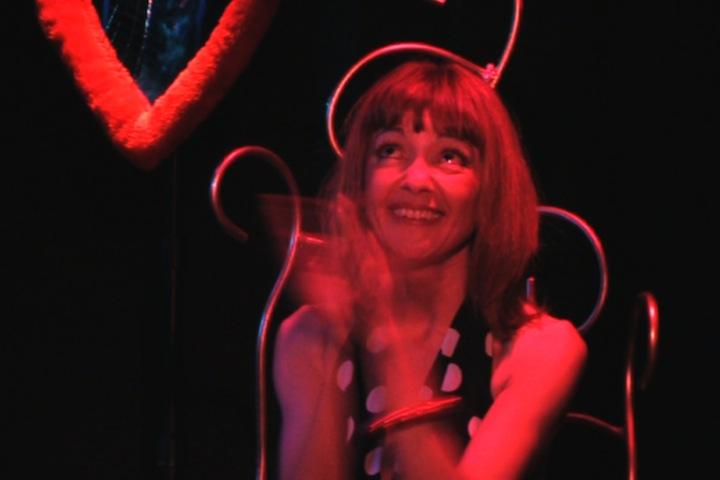 Claudie Caro sur scène dans Histoires d'Hommes