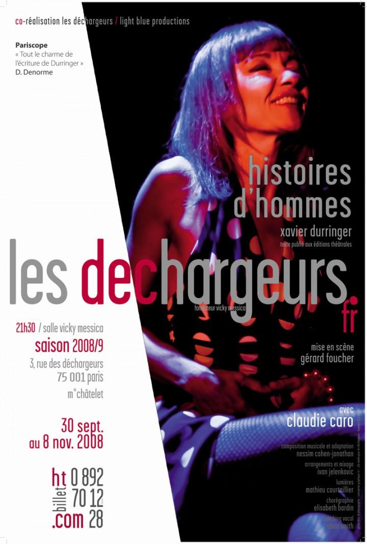 Histoires d'Hommes - Affiche au Théâtre des Déchargeurs