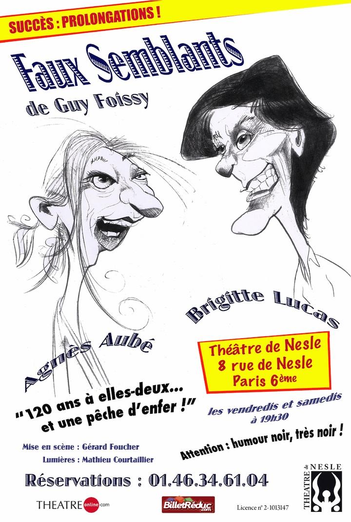 Faux Semblants - Affiche Théâtre de Nesle