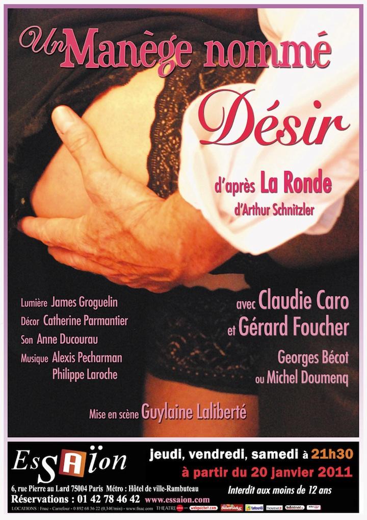 Un manège nommé désir - Affiche Théâtre Essaïon