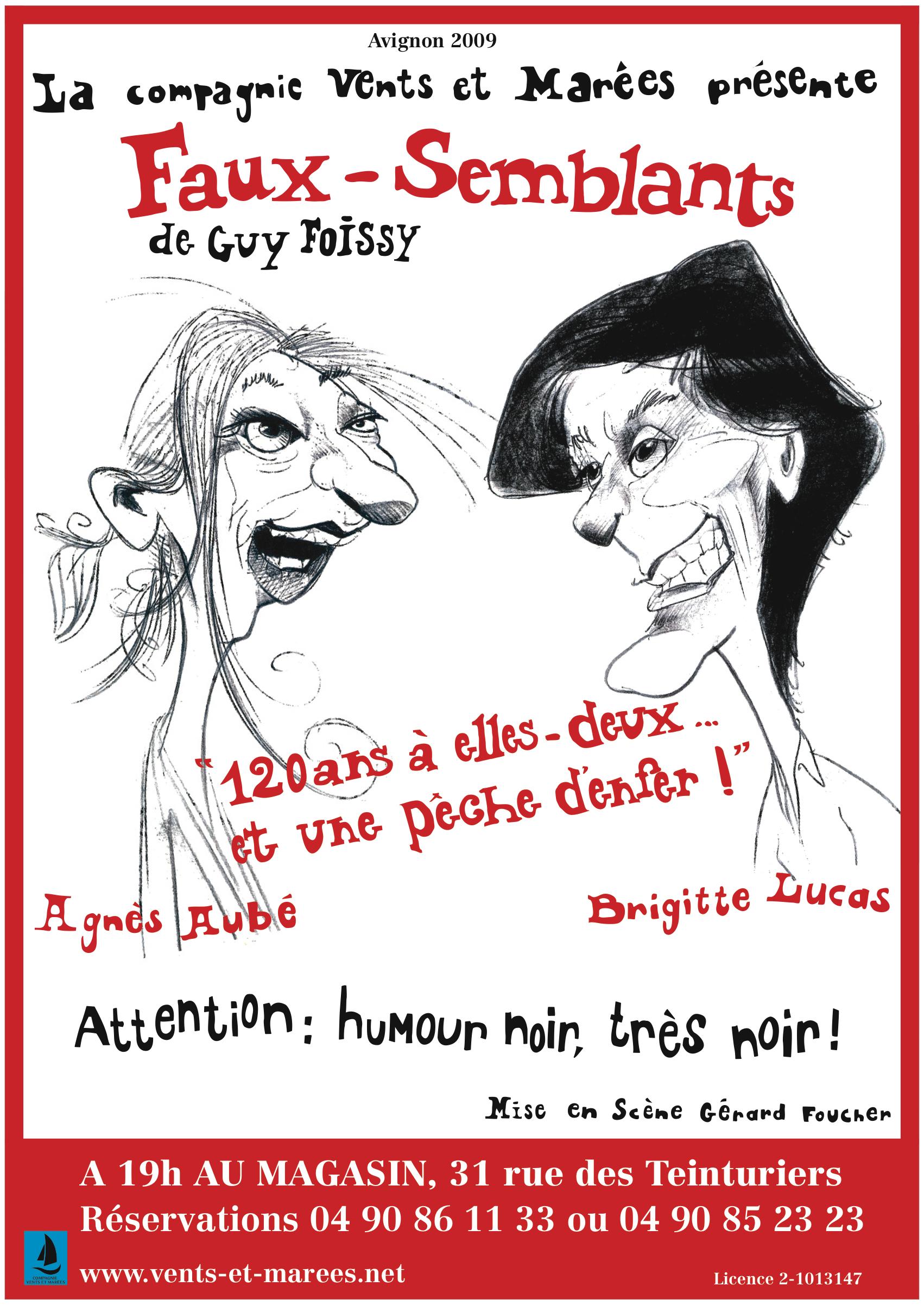 Faux Semblants - Affiche Festival d'Avignon